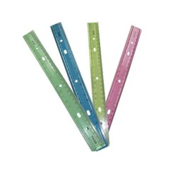 Dozen Of Rulers / Pink, Yellow, Green and Blue