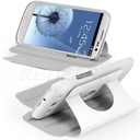 360 ° Roating Leather Smart Flip Stand Cover Case (White) for Samsung Galaxy S3 SIII i9300